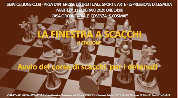 """2^ Edizione del Service """"La finestra a Scacchi"""""""